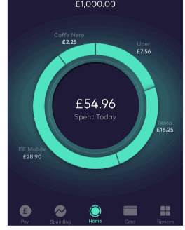 Starling Bank Account Spent Screen Take - lovelifelivewise